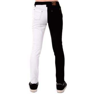 pants men 3RDAND56th - Split Leg Skinny - Black / white, 3RDAND56th
