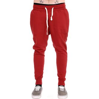 pants unisex (sweatpants) 3RDAND56th - Carrot Fit Jogger - Claret - JM1008