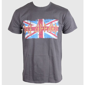 t-shirt metal men's Def Leppard - Union Jack - LIVE NATION - PE11764TSCP