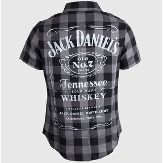 shirt men Jack Daniels - Checks - Black/Grey - TS633014JDS