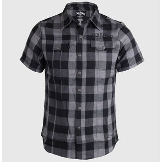 shirt men Jack Daniels - Checks - Black/Grey, JACK DANIELS