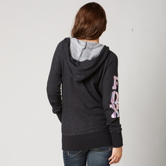 hoodie women's - Aimless - FOX - Black