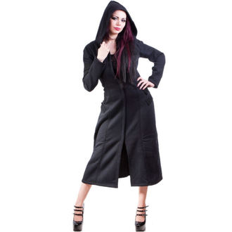 coat women's -spring/autumn- NECESSARY EVIL - Alcis - Black - NE0001
