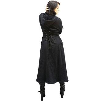 coat women's -spring/autumn- NECESSARY EVIL - Alcis - Black - NE0001