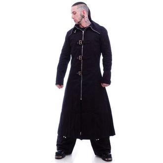 coat men's -spring/autumn- NECESSARY EVIL - Highwayman Full Length - Black - NE09018