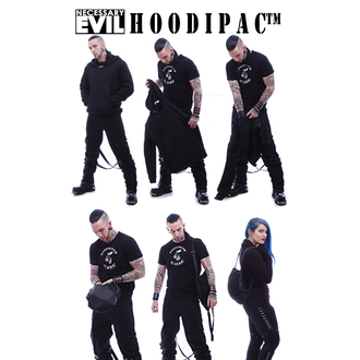 hoodie men's - Hoodipac Alternative - NECESSARY EVIL - N1212