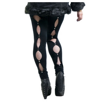 pants women (leggings) NECESSARY EVIL - Circe - Black, NECESSARY EVIL