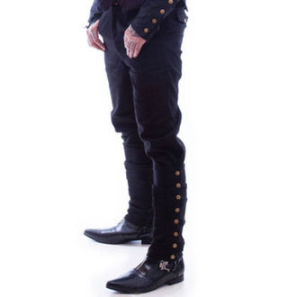 pants NECESSARY EVIL - Chronus Men Adjustable Steampunk - Black, NECESSARY EVIL