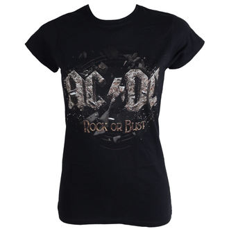 t-shirt metal women's AC-DC - Rock Or Bust - LIVE NATION, LIVE NATION, AC-DC