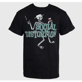 t-shirt metal men's Social Distortion - Letterman Skully - BRAVADO - SCD1019
