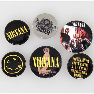 badges Nirvana - Smiley - GB Posters, GB posters, Nirvana