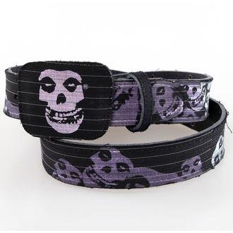 belt BIOWORLD - Misfits - Black Leather, BIOWORLD, Misfits