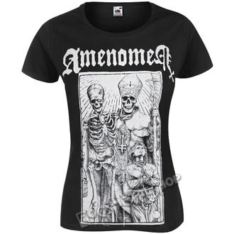t-shirt hardcore women's - POPE AND DEATH - AMENOMEN, AMENOMEN