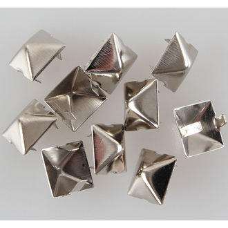 pyramids metal - 10pcs, BLACK & METAL