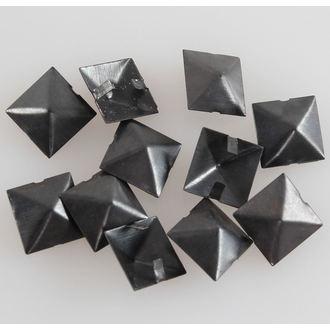 pyramids metal BLACK - 10pcs, BLACK & METAL