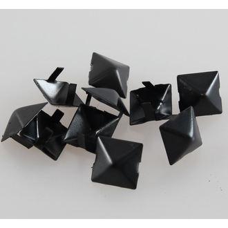 pyramids metal BLACK - 10pcs - CW-076