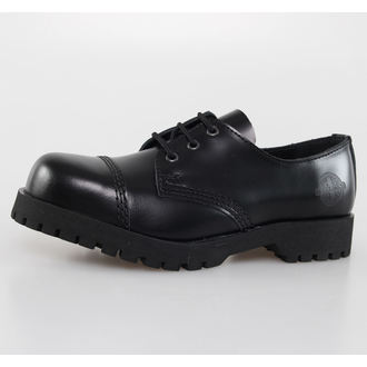 boots NEVERMIND - 3 eyelet - Black Polido, NEVERMIND