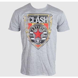 t-shirt metal men's Clash - Shield 1976 - LIVE NATION, LIVE NATION, Clash
