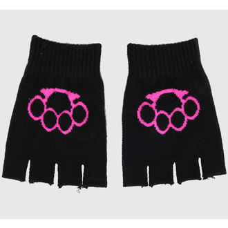 gloves fingerless Magic - Black / Pink