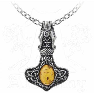 necklace ALCHEMY GOTHIC - Amber Dragon Thorhammer, ALCHEMY GOTHIC