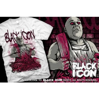 t-shirt hardcore men's - White - BLACK ICON, BLACK ICON