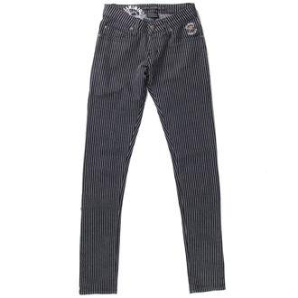 pants women CRIMINAL DAMAGE - Black / White