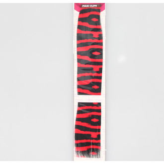 clip (hairpiece) ZEBRA - Red / Black