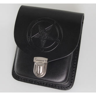 pocket to belt Baphomet - Black, JM LEATHER