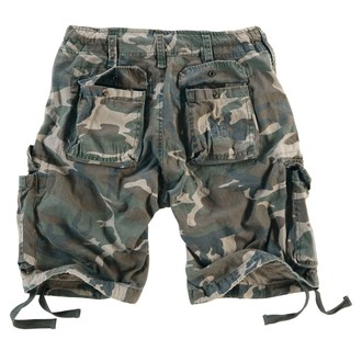 shorts men SURPLUS - Airborne Vintage - Woodland Gewas, SURPLUS