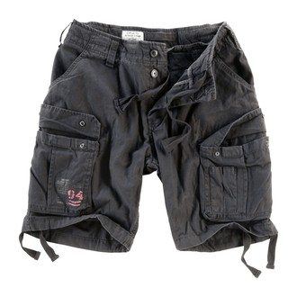 shorts men SURPLUS - Airborne Vintage - Black, SURPLUS
