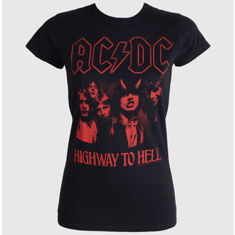 t-shirt metal women's AC-DC - Highway To Hell Red - LIVE NATION - PE12086SK