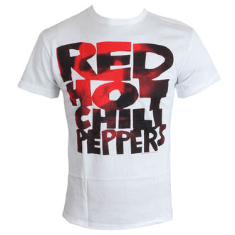 t-shirt men Red Hot Chilli Peppers - Type Face Fill - White - Amplified, AMPLIFIED, Red Hot Chili Peppers