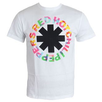 t-shirt men Red Hot Chili Peppers - Hyper Colour Logo - White - Amplified, AMPLIFIED, Red Hot Chili Peppers