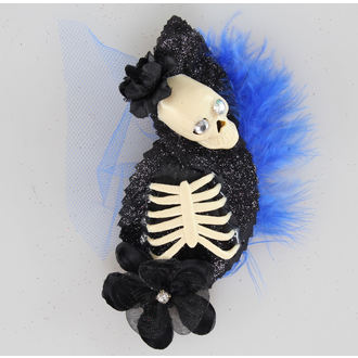 hairclip Skeleton Blue / Black