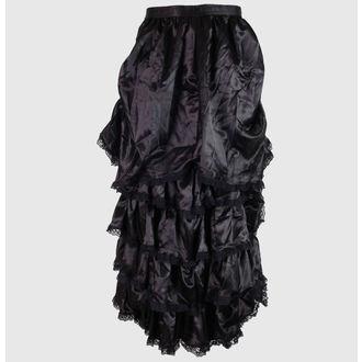 skirt women's Satin - Black - ZSKIRT6