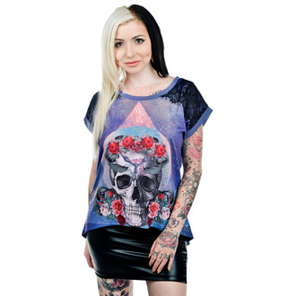 t-shirt gothic and punk women's - Purple - TOO FAST, TOO FAST