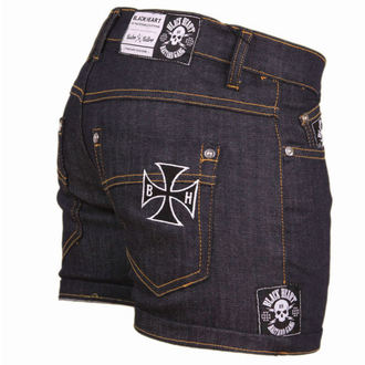 shorts women BLACK HEART - Blue Denim - BH001