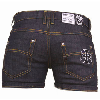 shorts women BLACK HEART - Blue Denim, BLACK HEART
