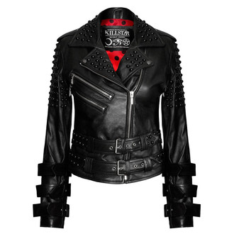 leather jacket women's - Buckled Leather - KILLSTAR, KILLSTAR