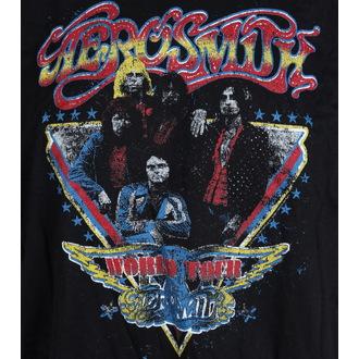 t-shirt metal men's Aerosmith - Distressed World Tour - LIVE NATION, LIVE NATION, Aerosmith