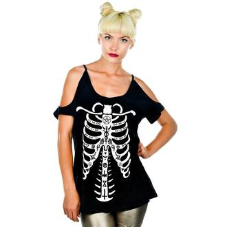 t-shirt gothic and punk women's - Damnation - TOO FAST - BLK