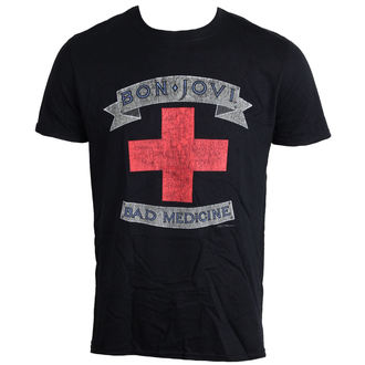 t-shirt metal men's Bon Jovi - Bad Medicine - LIVE NATION, LIVE NATION, Bon Jovi