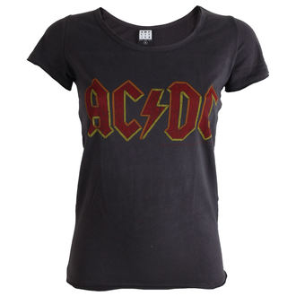 t-shirt metal women's AC-DC - Charcoal - AMPLIFIED - ZAV601ACL