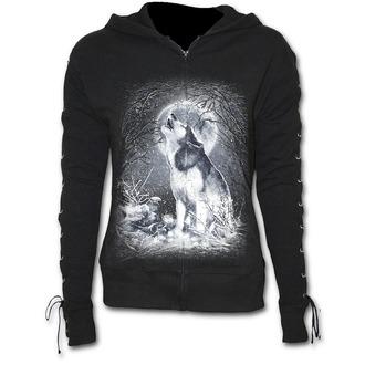 hoodie women's - White Wolf - SPIRAL - T053F265