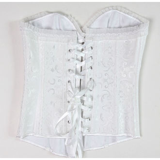 corset women's DRACULA CLOTHG - White - DAMAGED, DRACULA CLOTHING