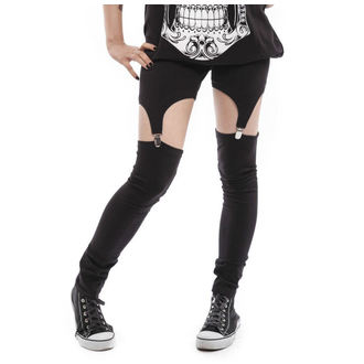 pants women (leggings) VIXXSIN - Suspender - Black