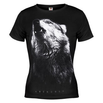 t-shirt hardcore women's - Wolf - AMENOMEN - OMEN036DA