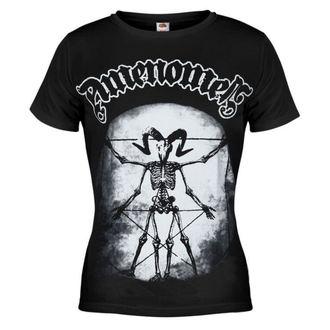 t-shirt hardcore women's - Skeleton Da Vici - AMENOMEN - OMEN020DA