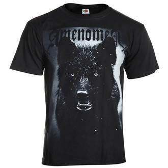 t-shirt hardcore men's - Black Wolf - AMENOMEN - OMEN024KM