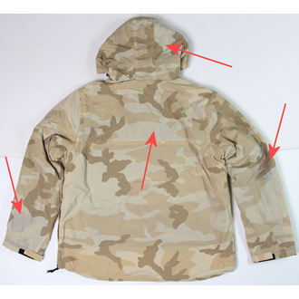 anorak SURPLUS - Windbreaker - DESERT - DAMAGED, SURPLUS